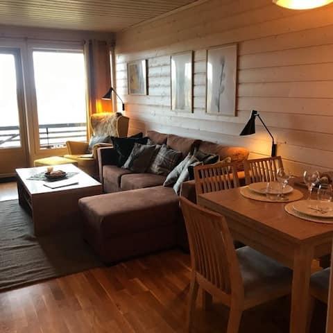 Hyggelig lejlighed på toppen af Hafjell.