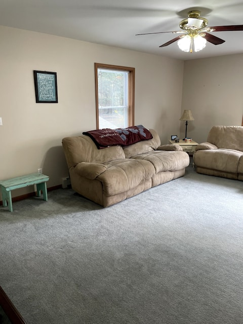 Comfortable spacious 1 BR above garage private APT
