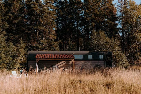 Bus-chalet off grid  CAMPING D'HIVER