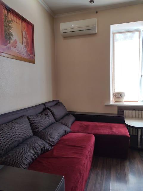 Уютная 1комнатная квартира-студия в центре города
