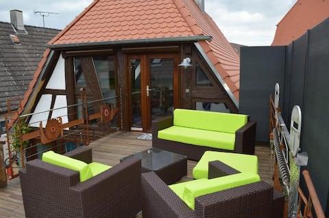 Schöne Wohnung mit Terrasse in Leopoldshafen