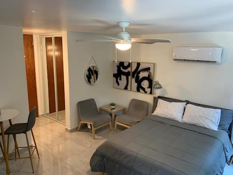 Modern & Stylish studio, just steps from the beach