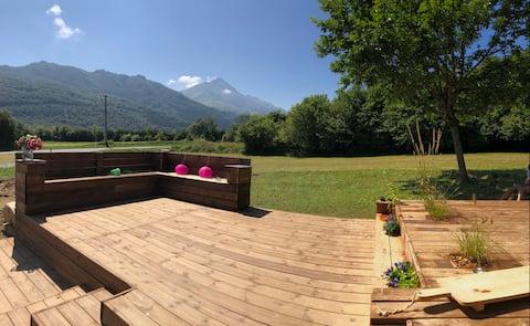 Maison de campagne vue montagne splendide