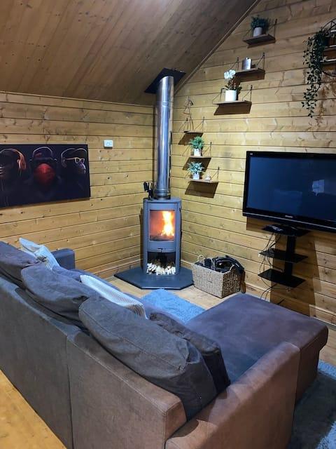 Beautiful  log cabin in seaside village