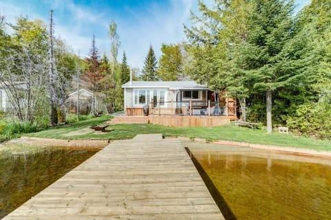 Gezellig huisje aan het meer in vier seizoenen op Lac Champeau
