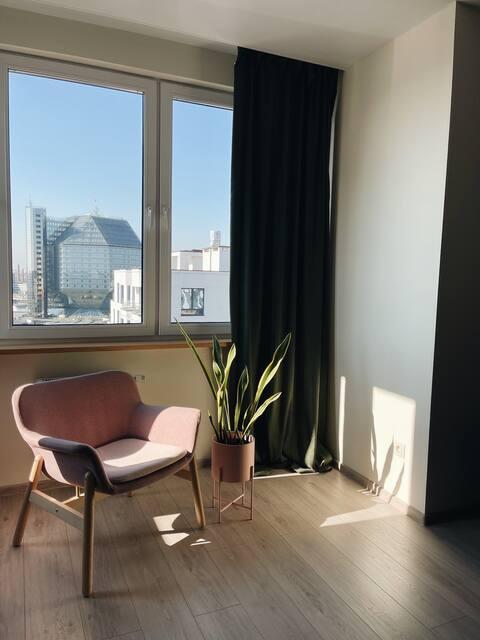 Уютная новая квартира с видом Маяк Минск