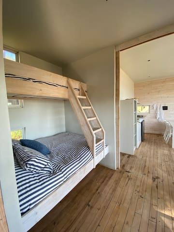 Bedroom 1 - separated from kitchen and second bedroom by sliding doors