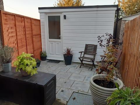 Cabin with private patio area