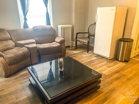 位于Allentown市中心的舒适一室公寓。