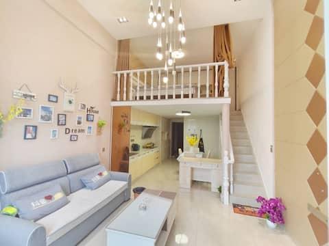 古窑1公里,5.5米挑空,2020年居家装,LOFT精品公寓