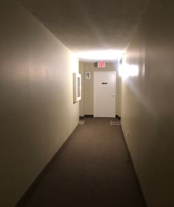 Hallway to man entrance  on 3rd floor