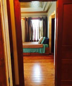Wide hallway and doorways