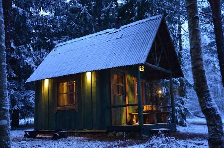 Small forest EcoHouse near the river Jägala