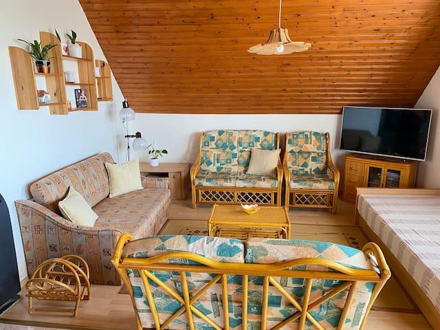 Living room, apartment II.