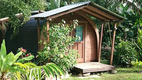 A PEACE IN PARADISE (Bird of paradise Log cabana)