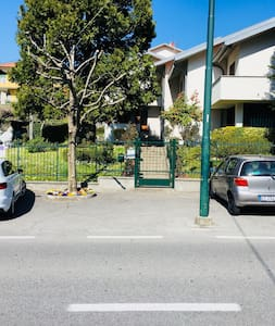 parking free at choise in front of entrance gate