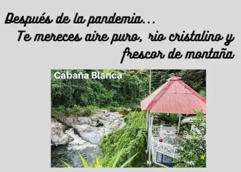 White cabin facing the river, Villa Clara,  2 pers.