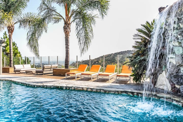 Private Hollywood Hills -Pool-View