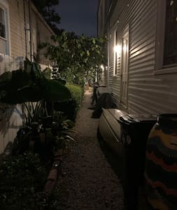This is how your path to your doorway looks at night.
