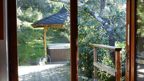 Cabin garden and spa en Provence