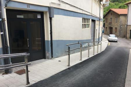 Alumbrado público y barandillas de protección y/o apoyo en la calle