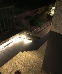Winterversion der Treppenbeleuchtung