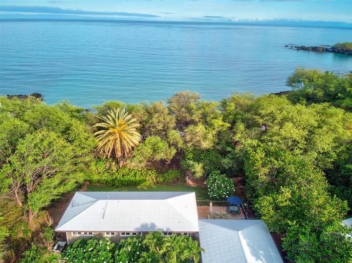 Lalamilo Beach House -Right on Waialea Bay!