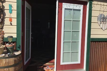 Front entrance- both doors open