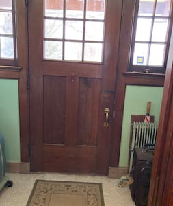 """The front door is 40"""" wide. A porch entry is 36"""" and a rear door is 36"""""""