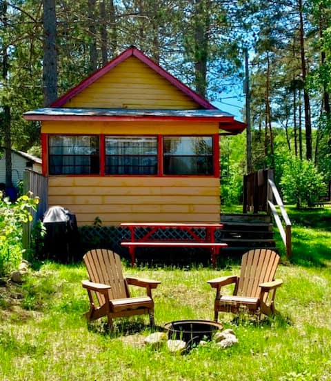 Orange Waterfront Cottage