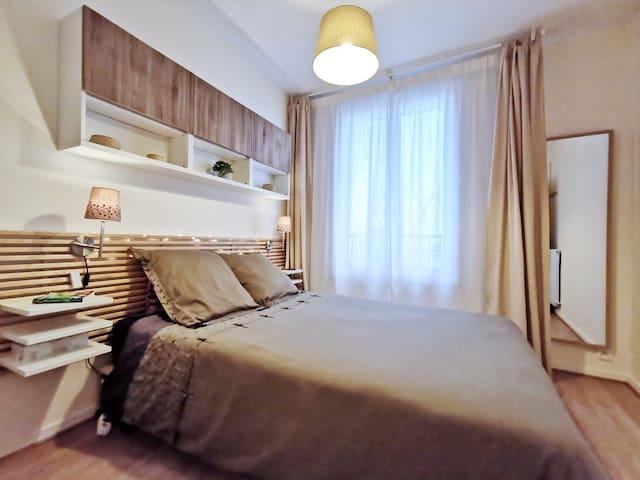 Une chambre douillette qui invite à la détente
