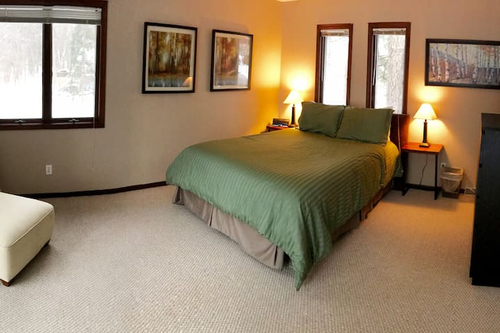 Master bedroom with half bath attached