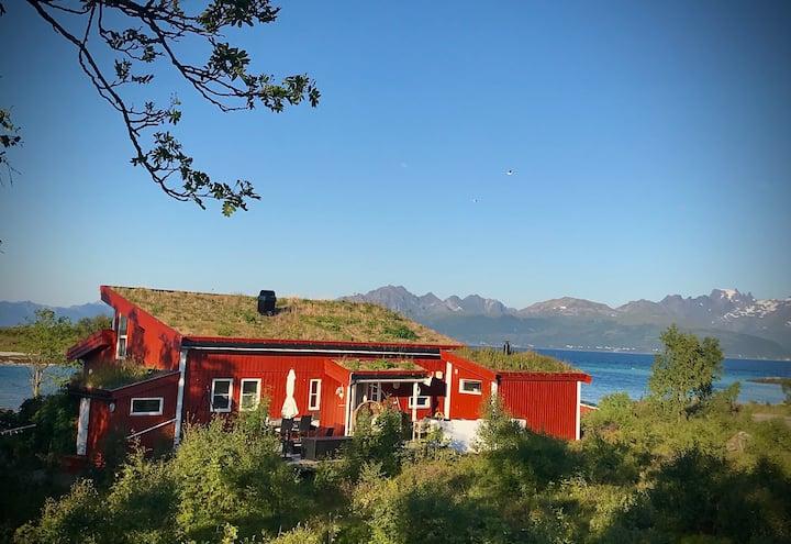 House by the sea, beach, sauna