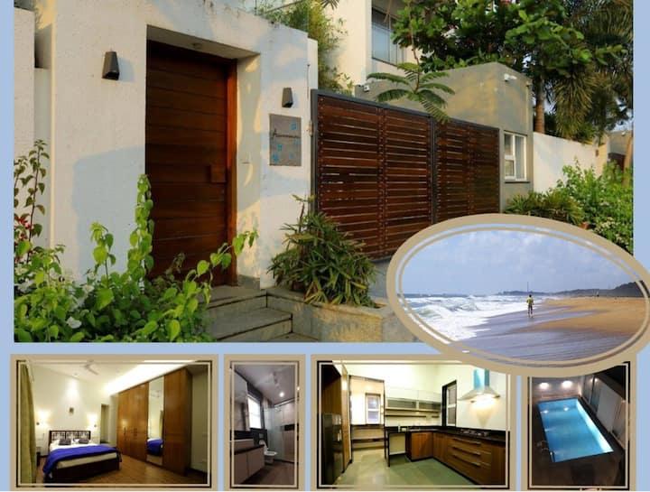 Aquamarine Seaside Villa with Swimming  Pool
