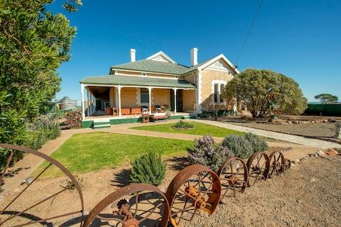 A beautiful large farm house