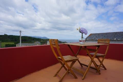 Loiba:House nature,beach and cliffs