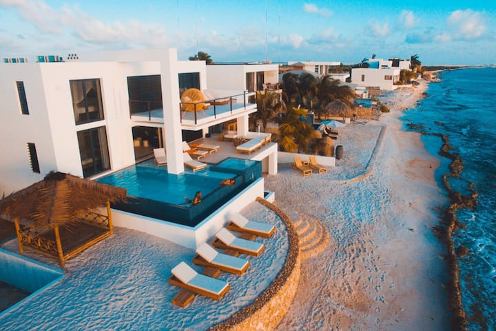 Modern, Spacious, Oceanfront Villas, Private Beach