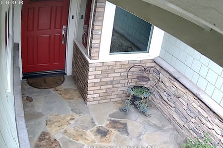 It is only necessary to step over the front door threshold to enter our home.