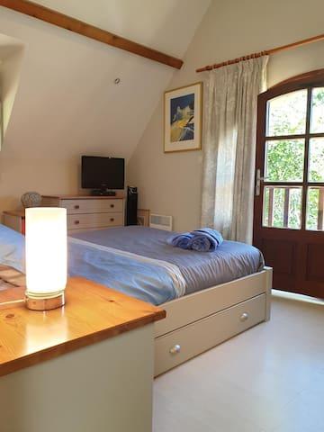 Spacious and comfortable second bedroom of La Bruyere villa..