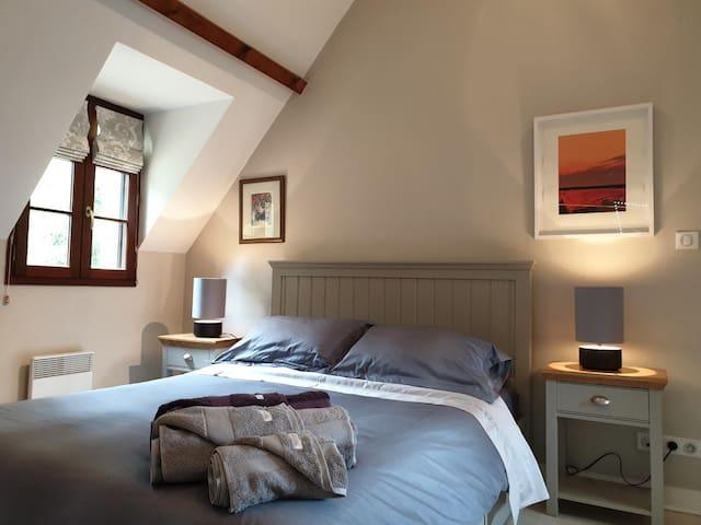 Beautifully decorated master bedroom of 'La Bruyere' villa