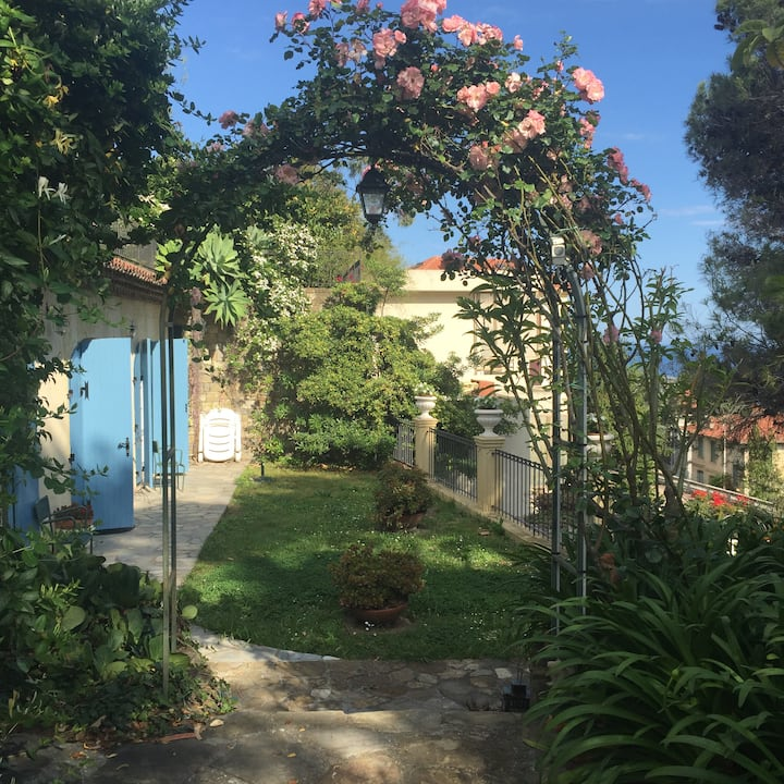 villa provenzale con giardino