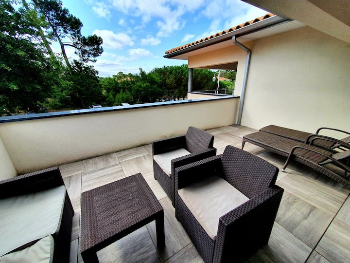 Arcachon Duplex, 2 br, 1 mn from the beach