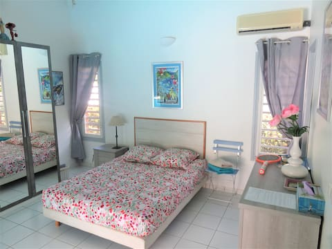 Chambre 16m² dans villa vue jardin, sdb privative