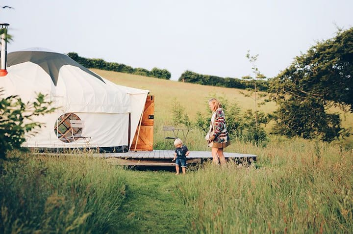 Yurts Cornwall Tremeer Farm
