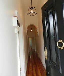 Baltic floor and wide hallway