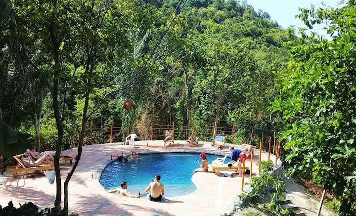 4 Bed room/AC/Finca Carpe Diem Ecolodge
