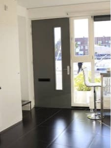 The entrance door is in the studio with no hallway and no stairs.