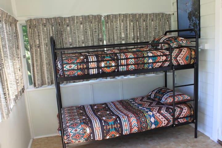 2 x Bunk Beds Limited to 70kgs Top Bunk Restricted to 5 yrs and above