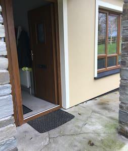 Entrance with open door