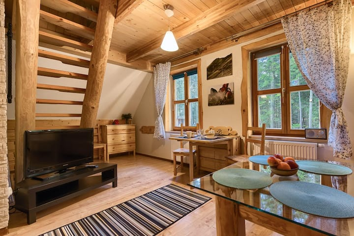 Lux Appt in Mountain forest cottage